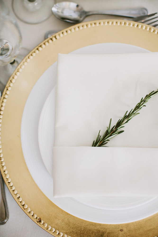 Lifetime Weddings & Events -  charger plate